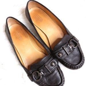"Coach ""Elkie"" Womens 9 B Flats Black Leather"